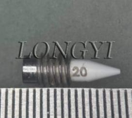 當陶瓷膠針以90%的速度膠合時